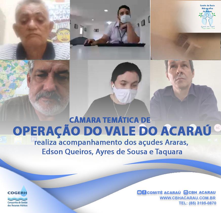 Câmara Temática de Operação do Vale do Acaraú realiza acompanhamento dos açudes do Vale