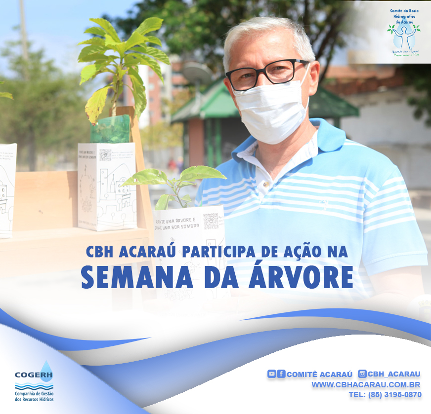 CBH do Acaraú participa de ação durante a semana da árvore
